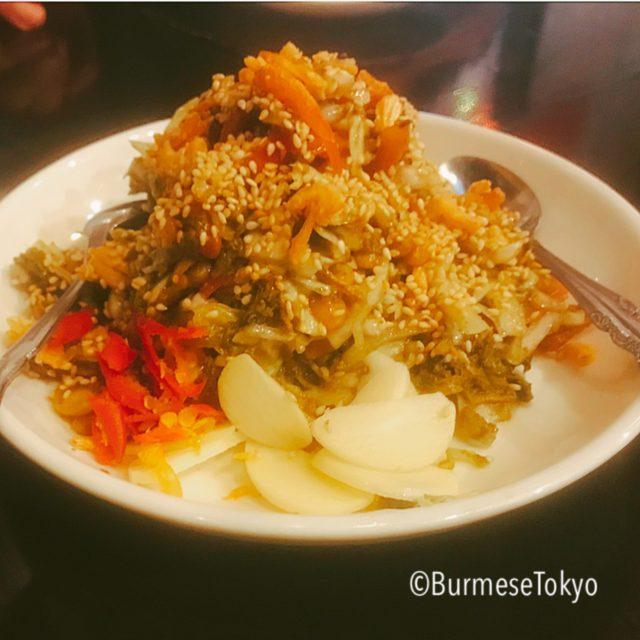 さくらミャンマーのラペットゥ(発酵茶葉サラダ)