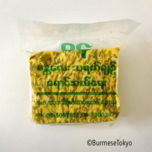 ミャンマーの発酵マンゴーピクルス(タヤチン)