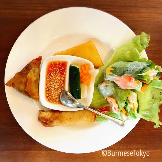 名古屋マンダレーの料理(前菜)