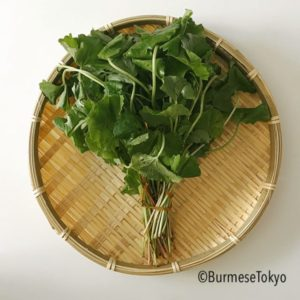 ミャンマー野菜:ペニーワート(ツボクサ)