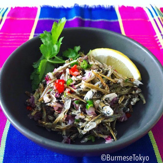 ラカイン風小魚サラダ
