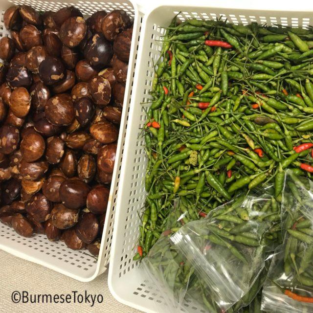 Shwe pyi thitで売っていた青果