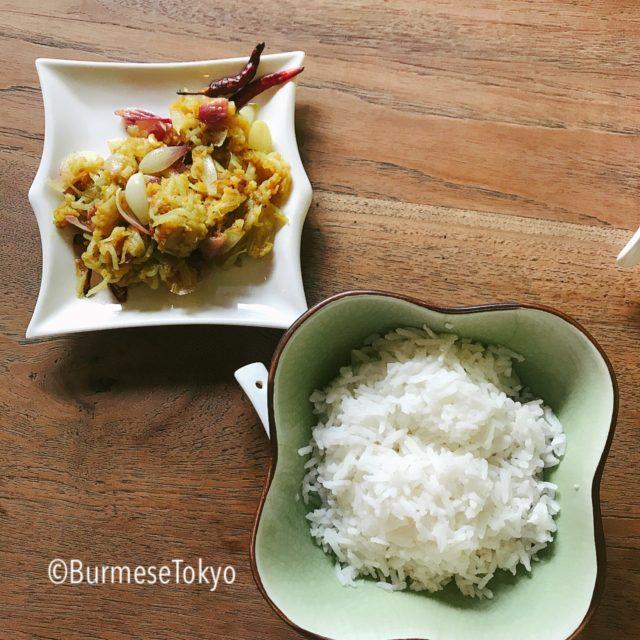 モン族料理「Jana mon」のティンギャンライス