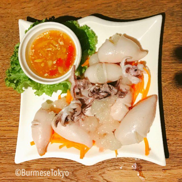 モン族料理Jana monのイカのもち米蒸し