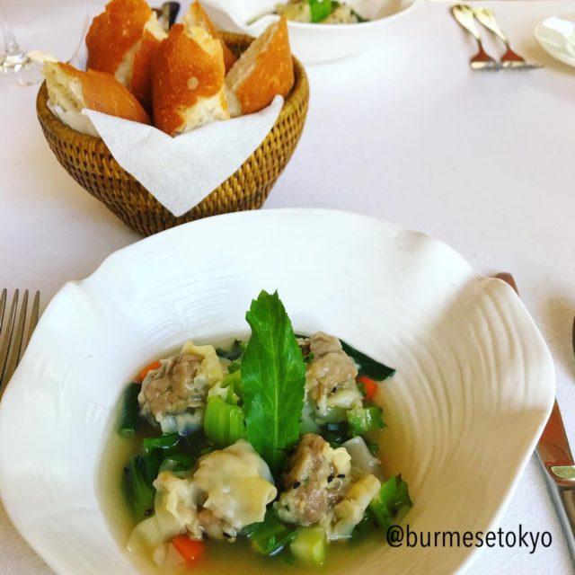 Shwe Sa Bweのランチコースで食べた前菜