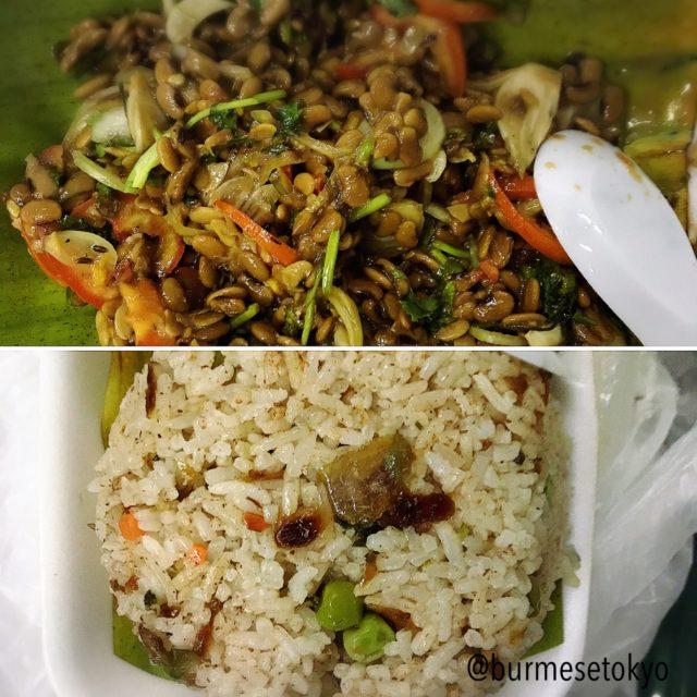 Jing Hpaw Myayの納豆料理2種