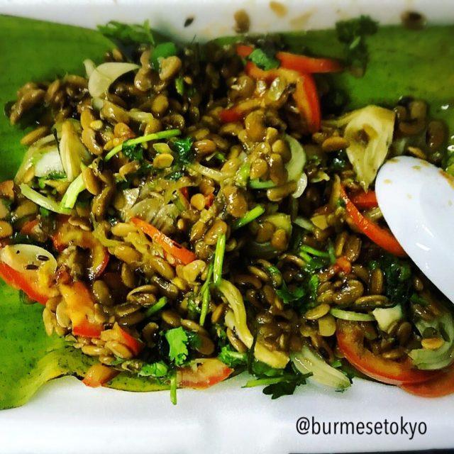Jing Hpaw Myayの納豆和えサラダ