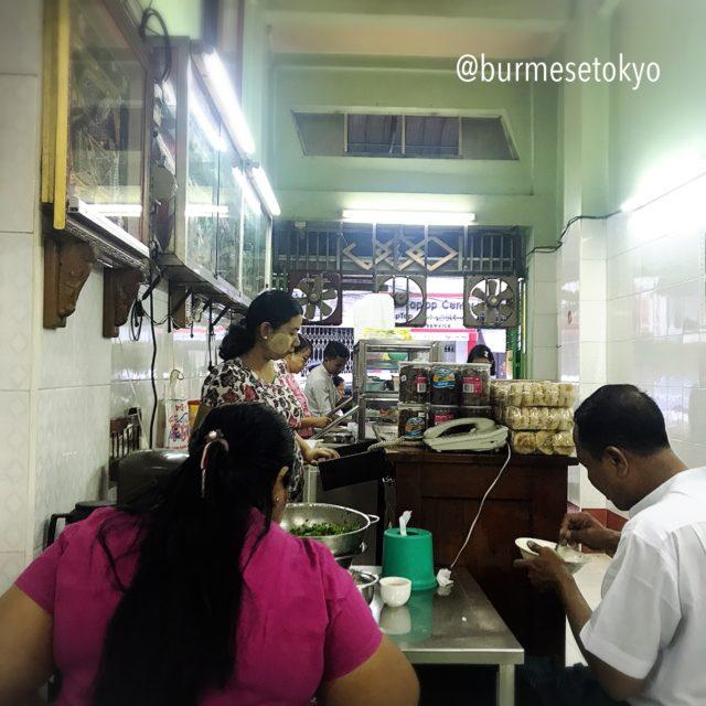 Bogalay Daw Nyoの店内。混んでます