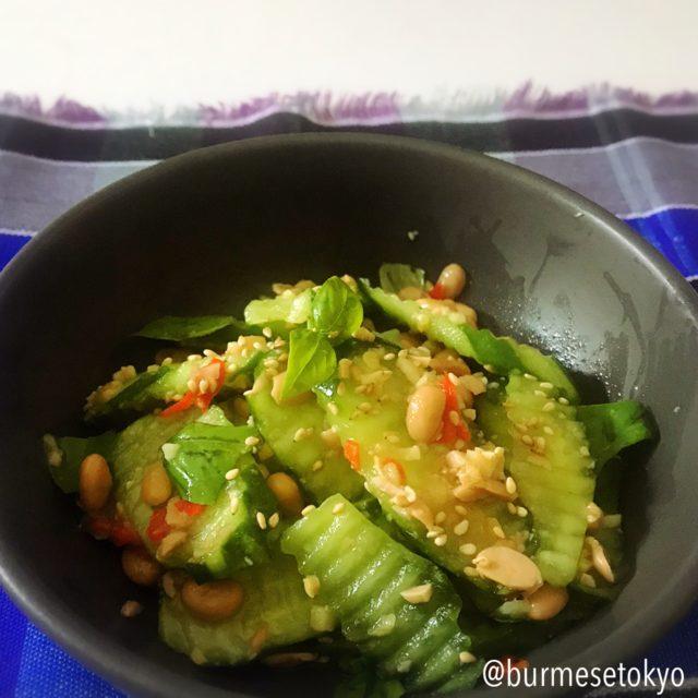 カチン納豆サラダの完成