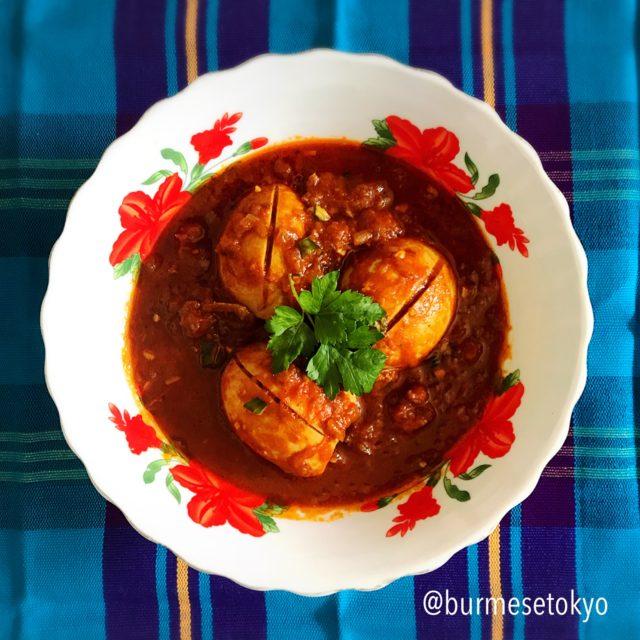 ミャンマー卵カレー