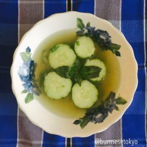 ラカインきゅうりのスープレシピ
