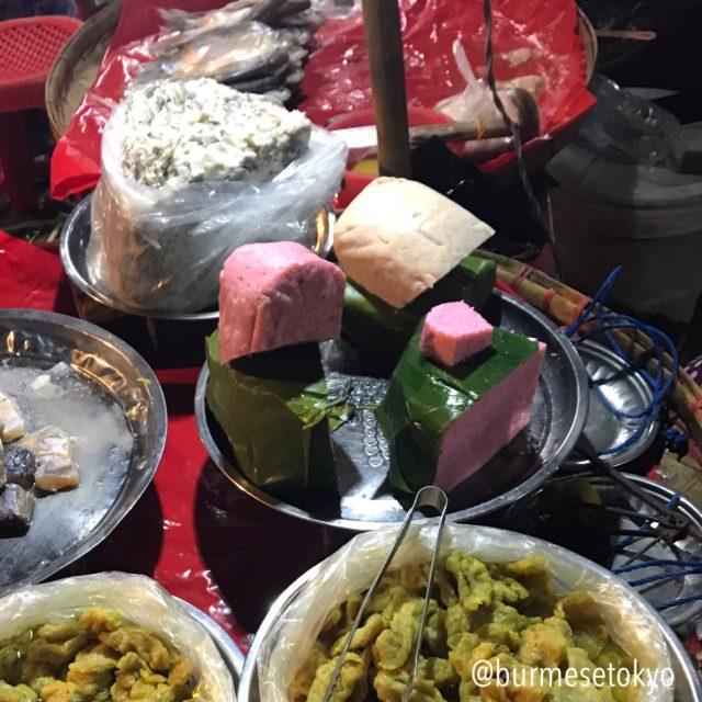ヤンゴンのナイトマーケットで売られているバズンチン