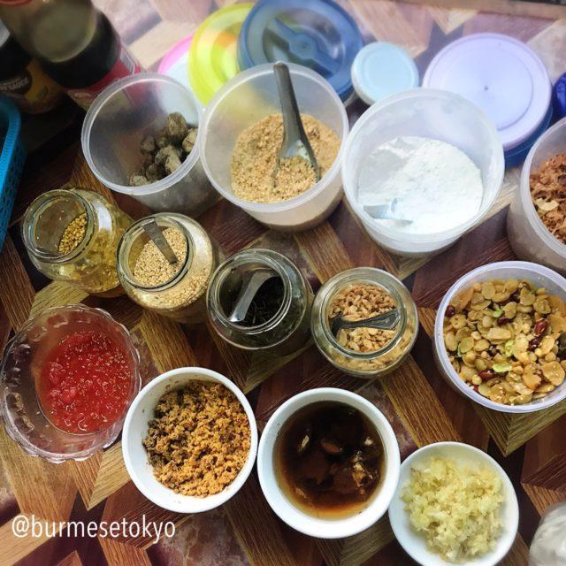 ミャンマー 料理は調味料が多い!