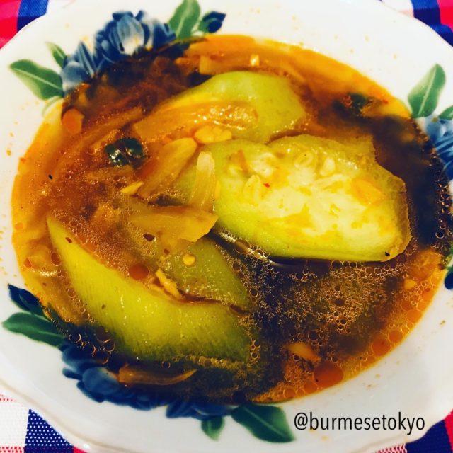 トカドヘチマを使ったミャンマーのスープ