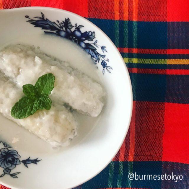 ミャンマーのデザート(オウンノガピョーディ)