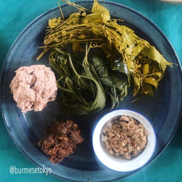 ランチ会で持参したミャンマー発酵物の数々
