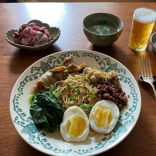 ラペ子のミャンマー料理教室参加者出来上がり写真(バズンチン&チェーオーシーヂェ)