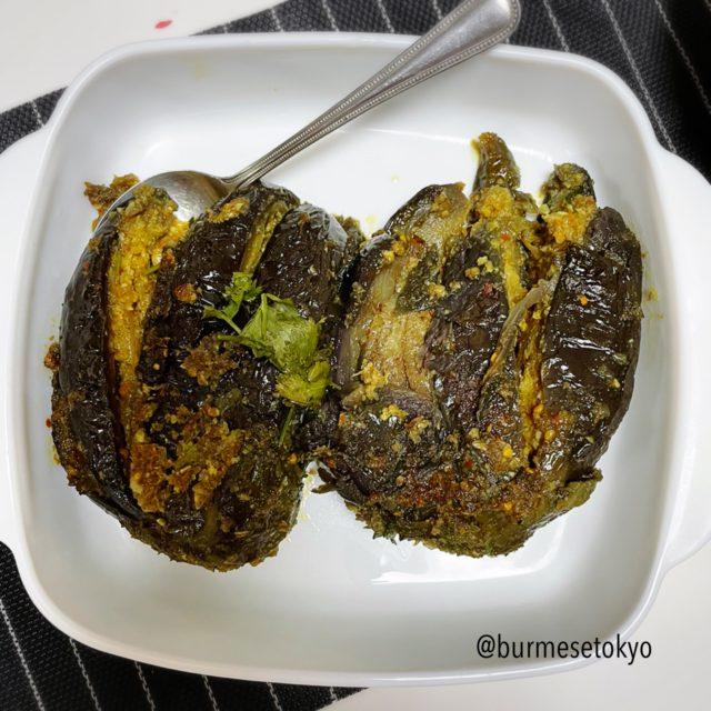 ロヒンギャ料理〜ナスの炒め煮