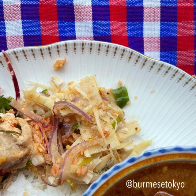 バーミーズ東京カレン族チャリティランチイベントの一皿