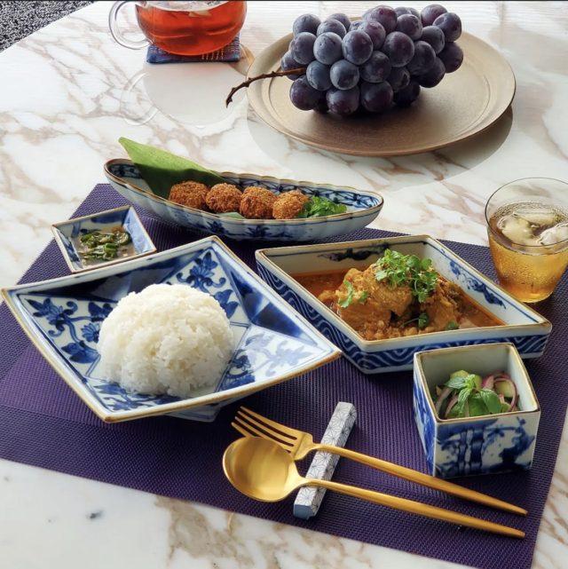 バーミーズ東京料理教室ご参加者様のお写真(カレンポークカレー)