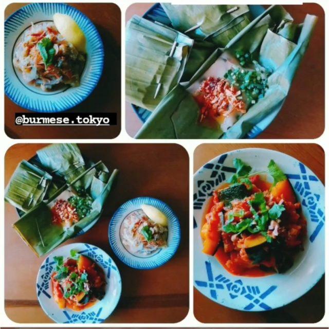 ラペ子のミャンマー料理教室参加者出来上がり写真