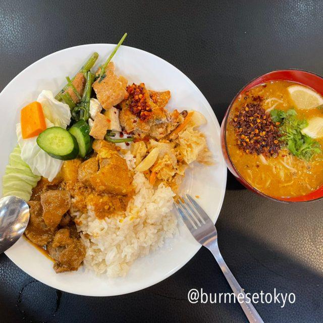 ミャンマー料理店 spring revolution スプリングレボリューションで食べたランチビュッフェ